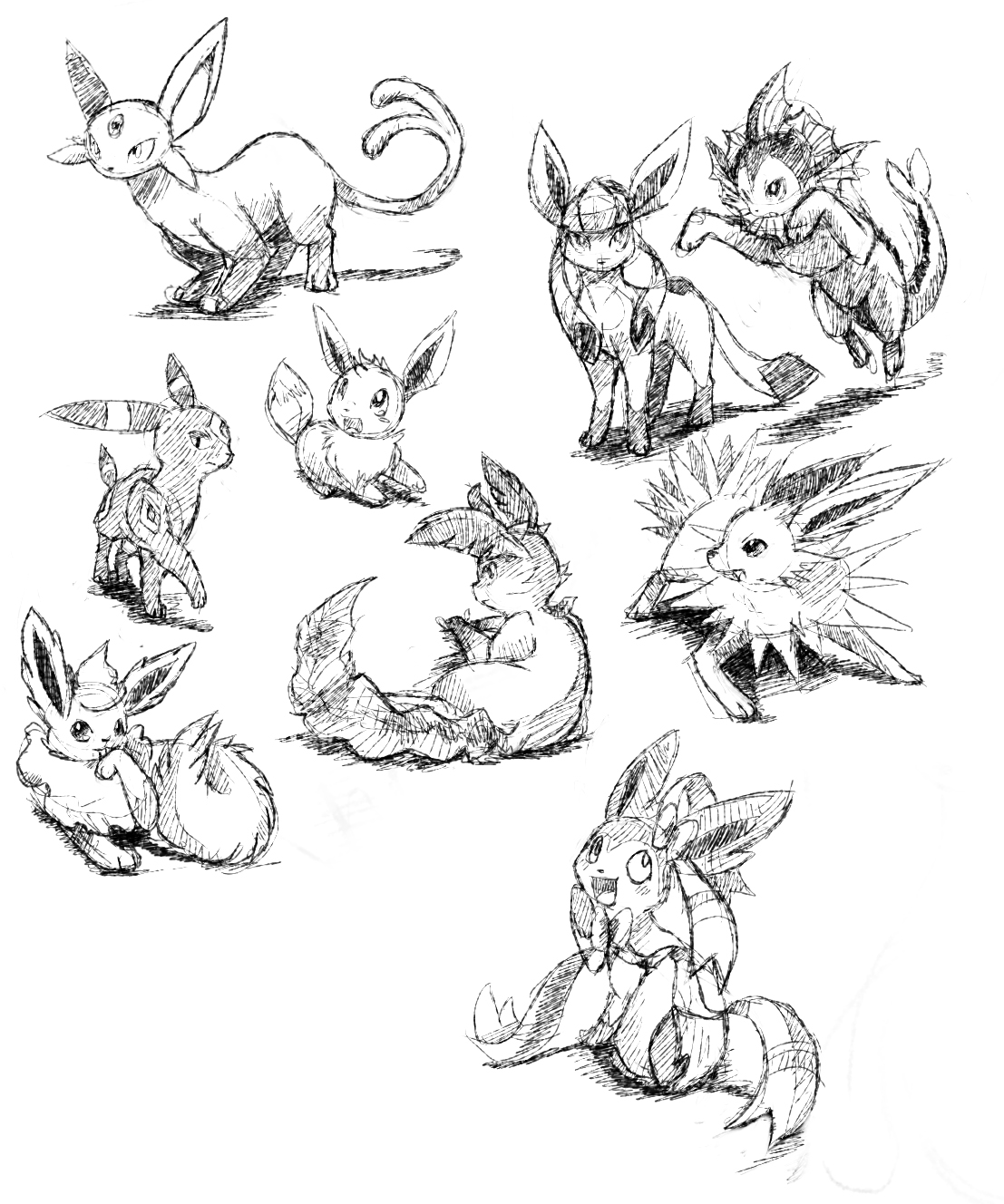 Comment dessiner evoli - Dessiner pokemon ...