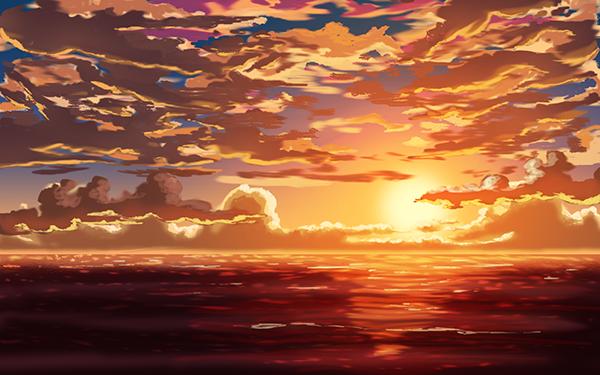 Pok terra espace membre galerie de koyukichan - Dessin coucher de soleil ...