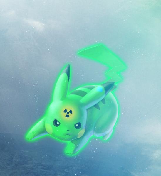 super pikachu radioactif !!!