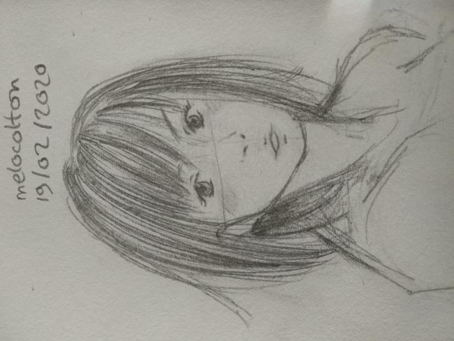 mini portrait (pourquoi mes dessins sont tjr penchés quand je les upload ouin)