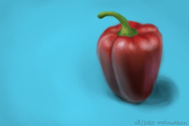 Galerie de Melocotton - Un poivron PTDR (d'autres dessins dans la descri !! ça tourne mal)