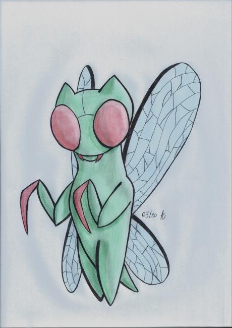 Chat de type Insecte
