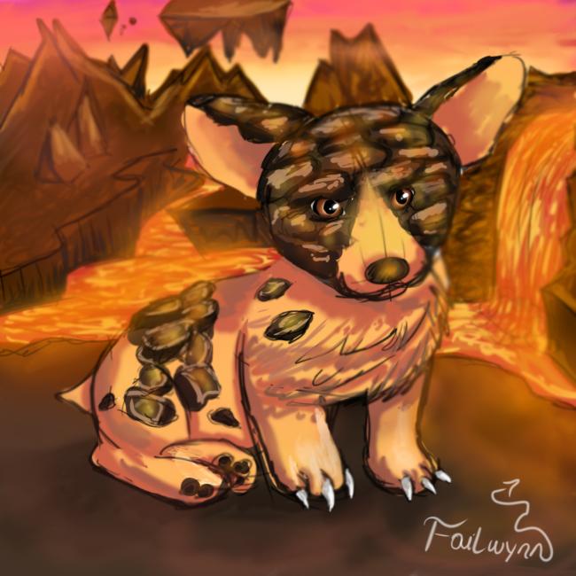 Molten Corgi lost in Firelands